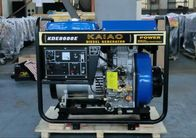 kualitas baik Mesin Diesel Air Cooled & 60hz 6kva 3600rpm Open Frame Diesel Generators Recoil Starter For Factory / Construction Dijual