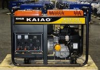 kualitas baik Mesin Diesel Air Cooled & Single Phase Small Gas Powered Generator , 11KVA Gasoline Standby Generator Dijual